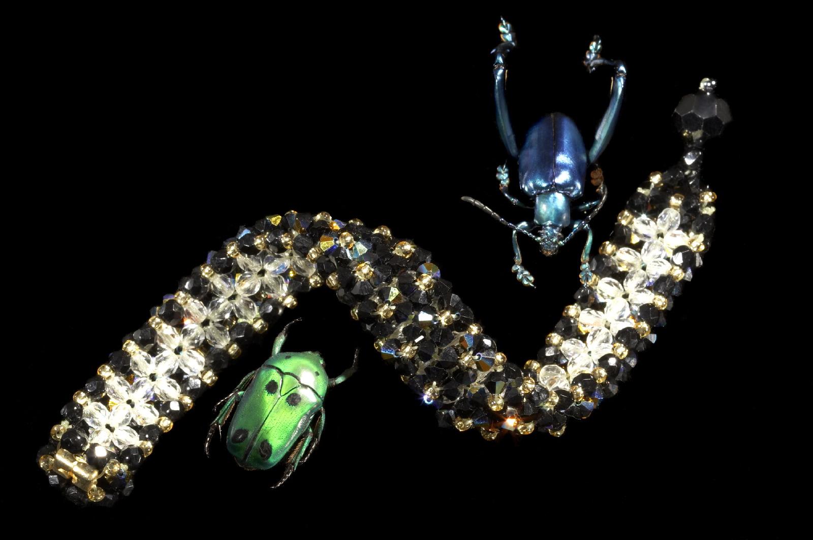 Jewellery scarabs & bracelet