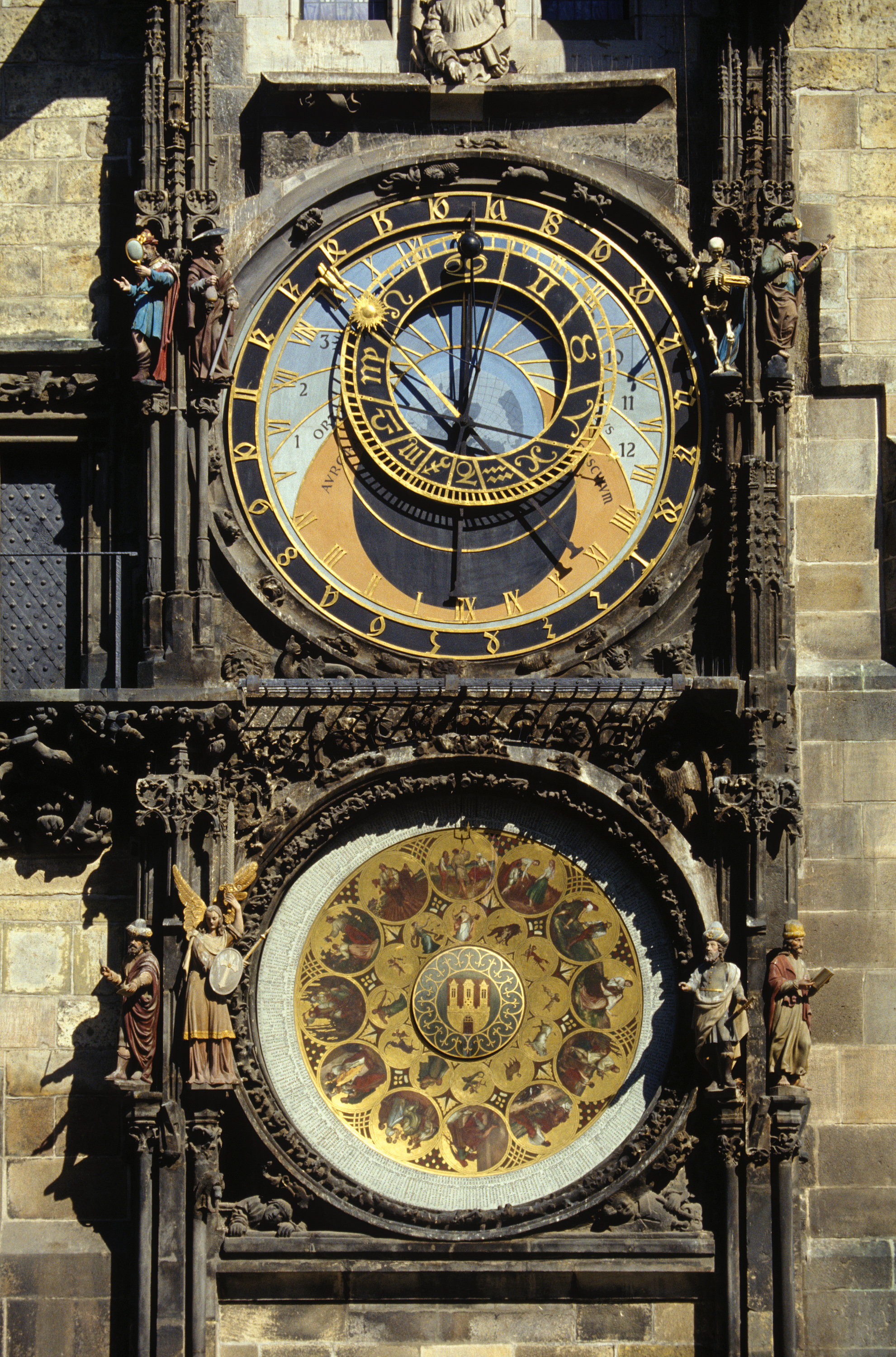 Prague city clock