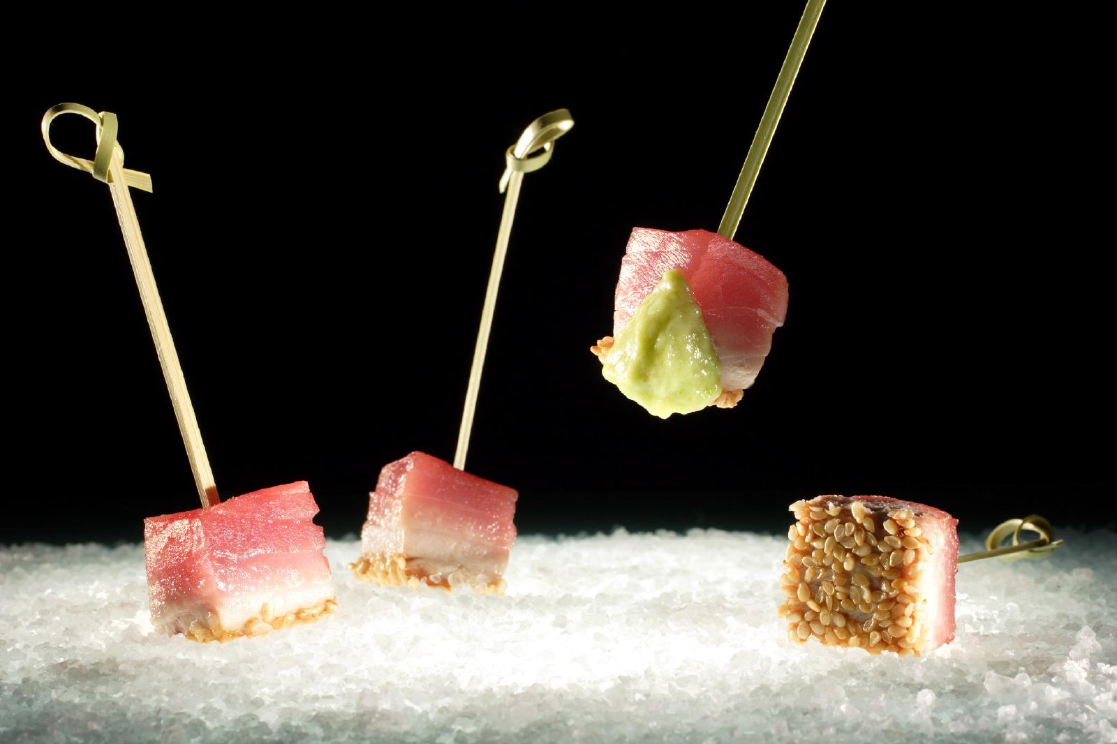 Tuna & sesame skewer Pascal Guerreau & Philippe Conticini