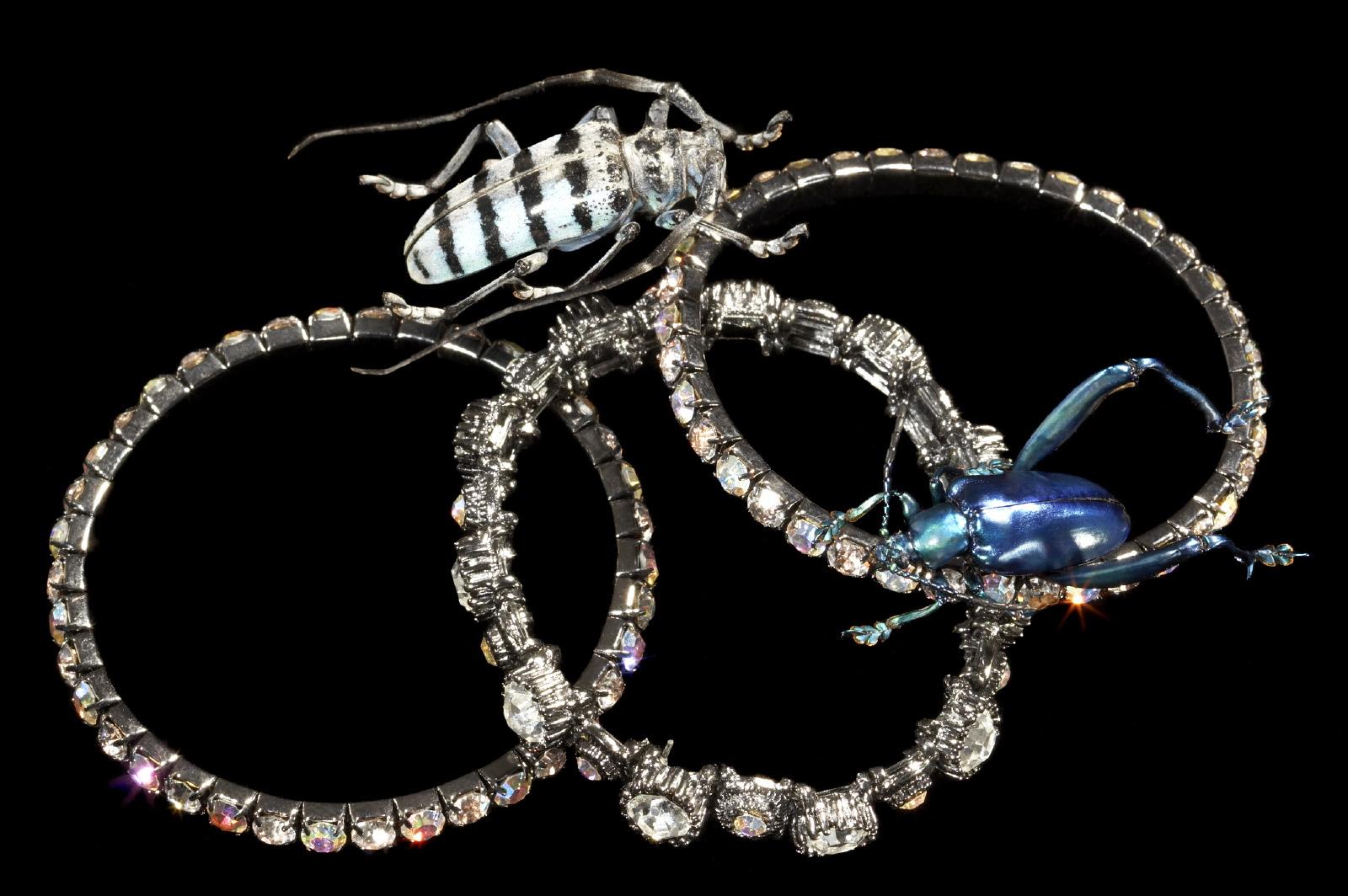 Jewellery giant scarabs & bracelet