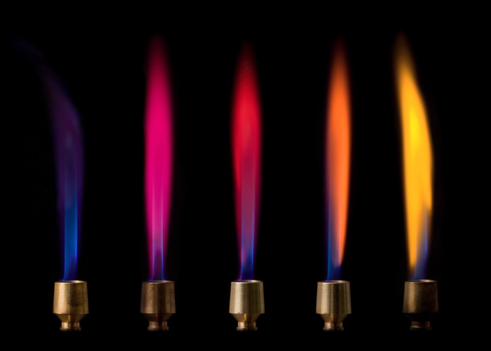 4 metals flames